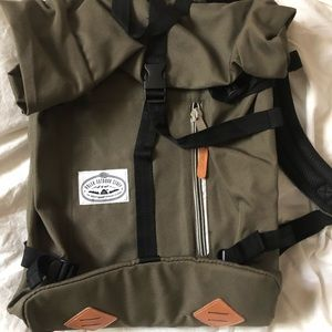 Poler Olive Green Backpack
